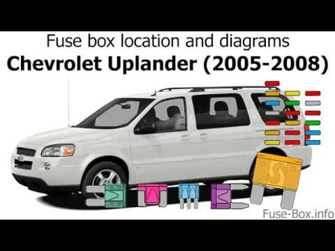 Fuse box location and diagrams Chevrolet Uplander (2005-2008) - YouTube