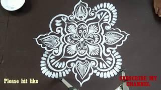 RANGOLI /WHITE RANGOLI/Kolam/SIMLE ALPONA /CREATIVE ALPONA DESIGNS/ALPANA DESIGNS