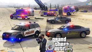 KUFFStv - Watch Multiple Officers LIVE, As It Happens! - GTA FiveM KUFFS vRP Police Roleplay