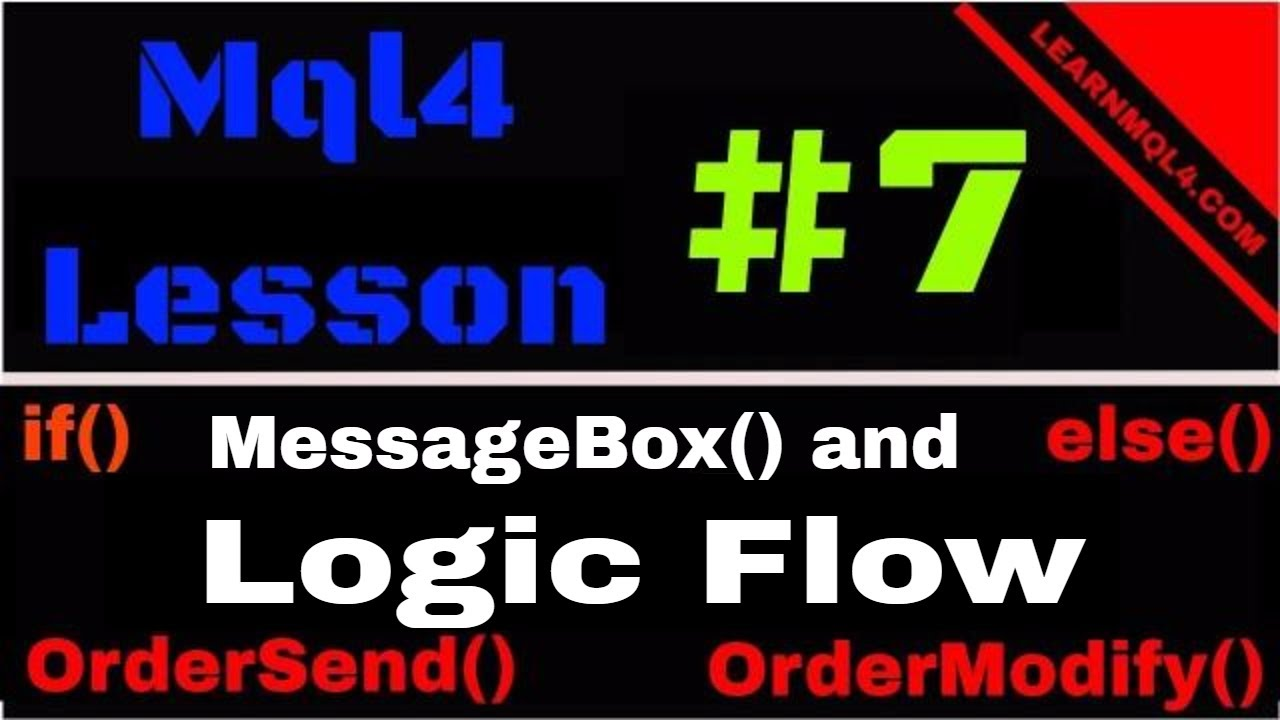 Mql4 Programming Lesson 7 Order Functions and if/else
