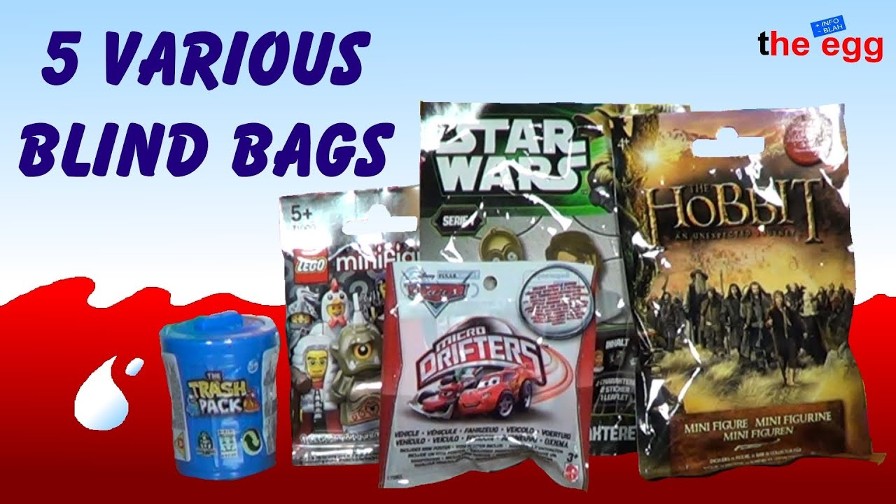 5 Blind Bags Micro Drifters The Trash Pack Lego
