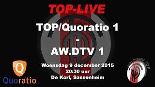 TOP/Quoratio 1 tegen AW.DTV 1, woensdag 9 december 2015