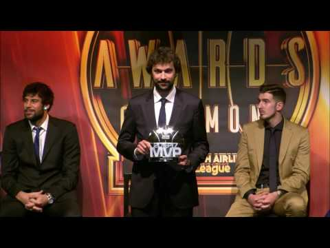 Presentation of the 2016-17 Turkish Airlines EuroLeague MVP award