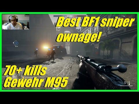 BEST BF1 SNIPER RIFLE OWNAGE! | 70+ killls (MVP) Gewehr M95 infantry - Battlefield 1
