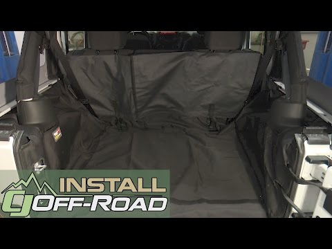 Jeep Wrangler JK Rugged Ridge Cargo Cover C3 Without Subwoofer 4-Door 2007-2018 Installation