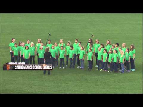San Domenico School Sings National Anthem at SF Giants Game on August 26, 2015