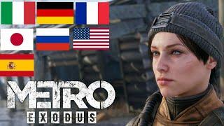Metro Exodus - Voice Comparison   Multilanguage: 7 Different Languages