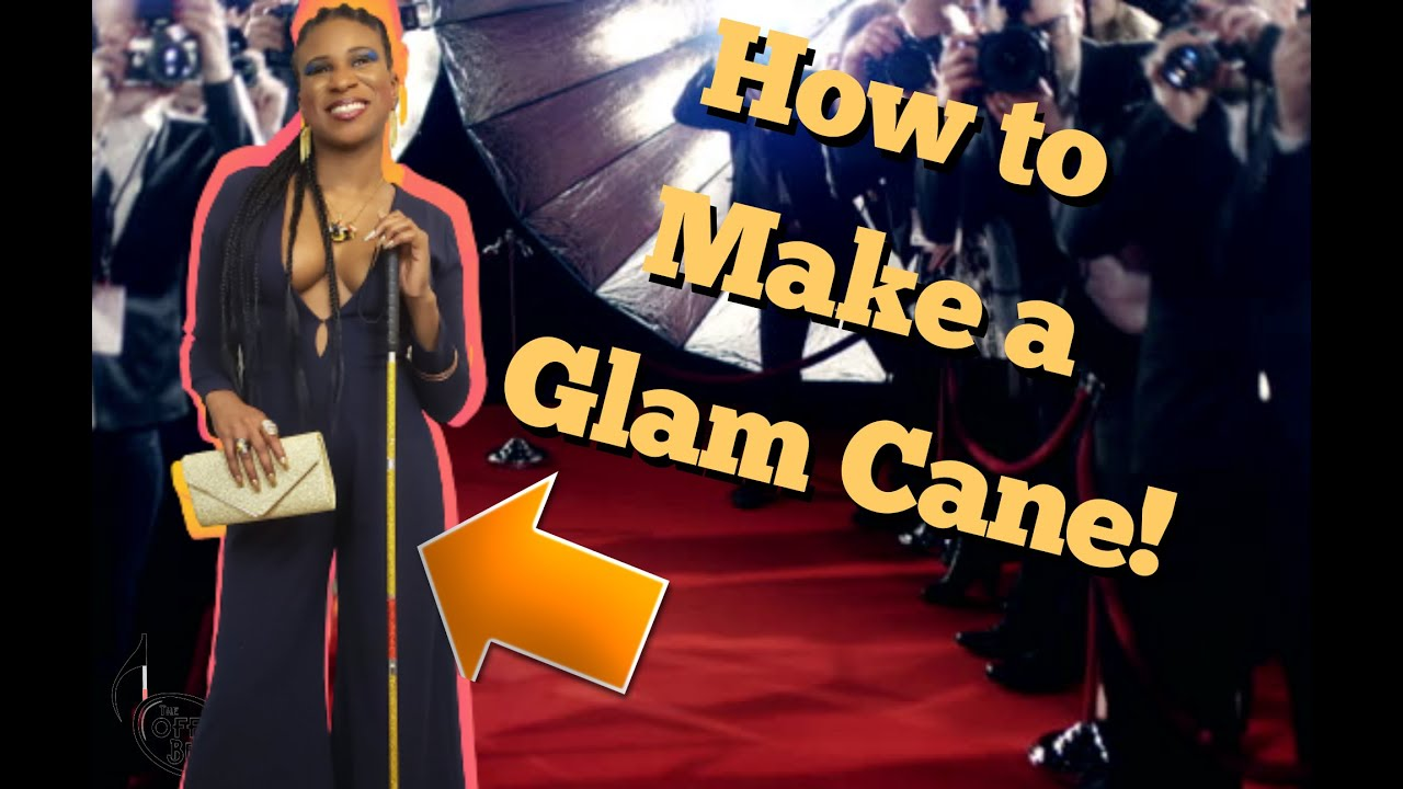 How to make a Glam Cane - DIY tips for glamming up a whitecane