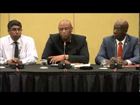 Joint Trade Union & People's National Movement Sign MOU. 27:08:2015 - Trinidad & Tobago