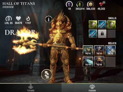 Dawn of Titans - More About Proper Titan Fusing and Relic Repairing