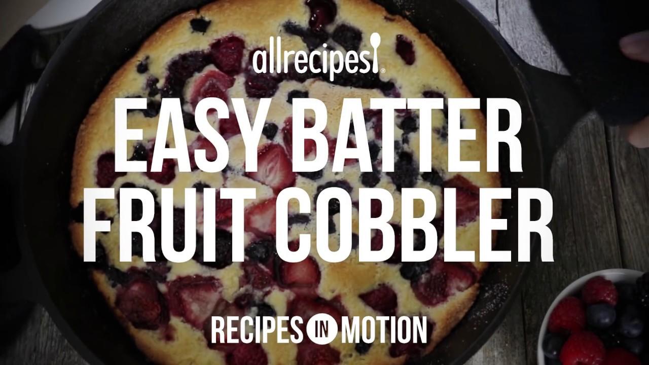 How to make easy batter fruit cobbler dessert recipes allrecipes how to make easy batter fruit cobbler dessert recipes allrecipes forumfinder Images