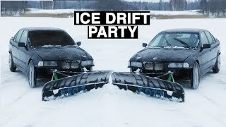 ICE DRIFT PARTY WITH PETROLHEADS (ENG SUBS)