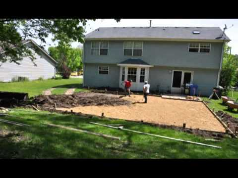Backyard basketball court build youtube for Diy sport court