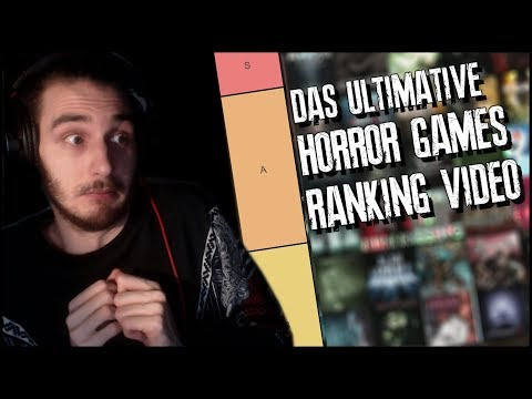 [100 SPIELE] Das ULTIMATIVE Horror Games Ranking Video (TIER LIST S-F)