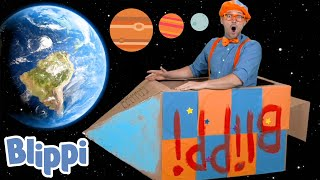 Blippi Builds A Rocketship! | Learn About The Solar System | Educational Videos for Toddlers