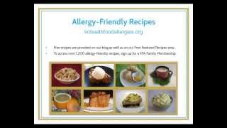 Free webinar presented by Kids With Food Allergies Foundation with ...