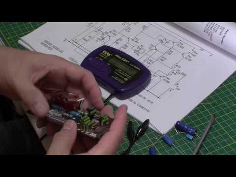 Hacker Super Sovereign RP75 transistor radio Part 3: Chassis work and start of recap
