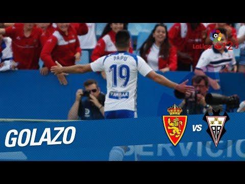 Golazo de Papunashvili (1-0) Real Zaragoza vs Albacete Balompié