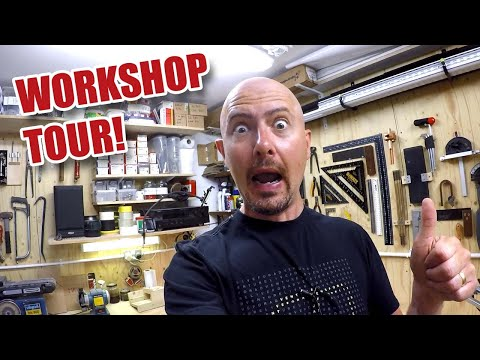 Small Workshop Tour Video – 1000 SUBSCRIBER SPECIAL! My Little Woodworking Shop in 2017 [54]