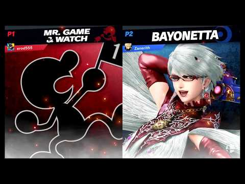 Zanerith (Bayonetta) Vs Erod555 (Game and Watch) Smash Ulttimate |