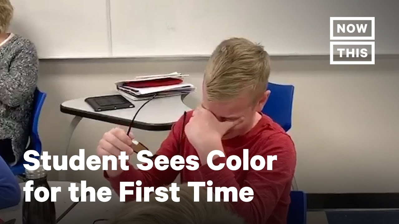 Student Sees Color for First Time With EnChroma Glasses | NowThis