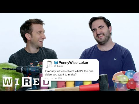 The Slow Mo Guys Answer Slow Motion Questions From Twitter | Tech Support | WIRED