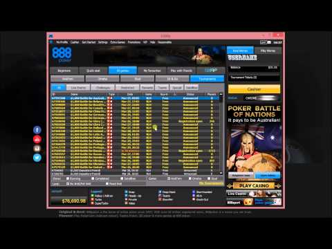 888Poker Review: Free poker tournaments and good cash bonus.