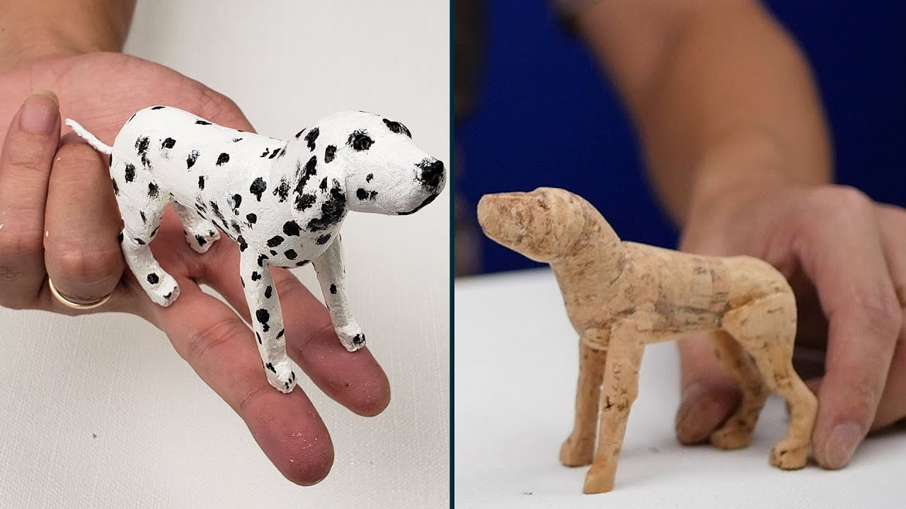 how to make a dog from wine corks (dalmatian puppies)  |  Ben Handmade