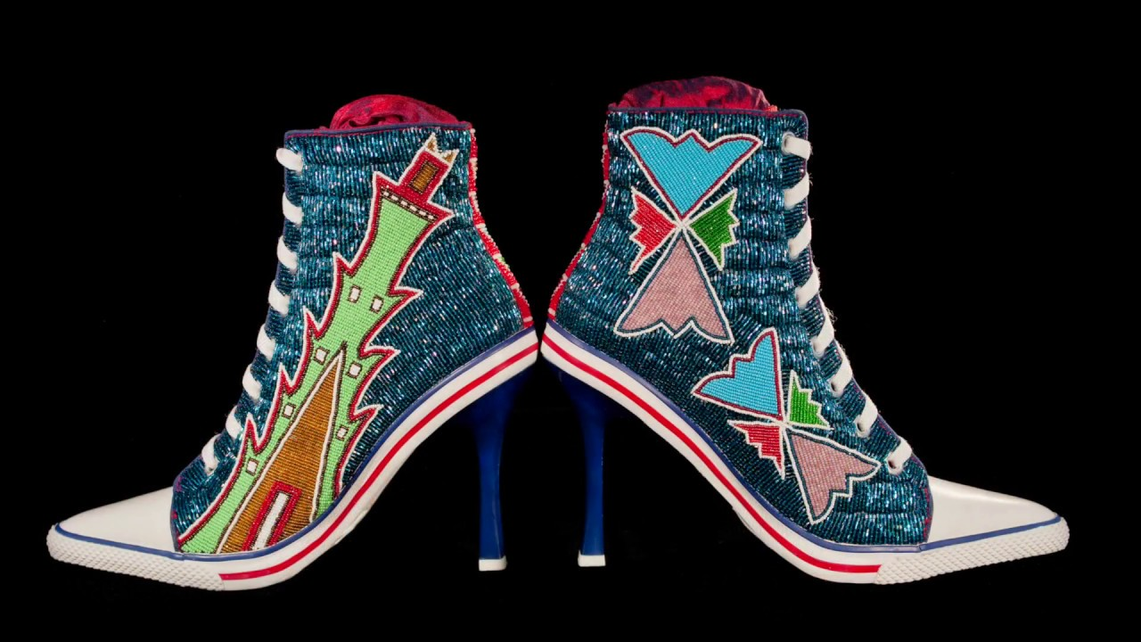 15456d9c5e60 Teri Greeves talks about beading Converse sneakers and high-heeled shoes