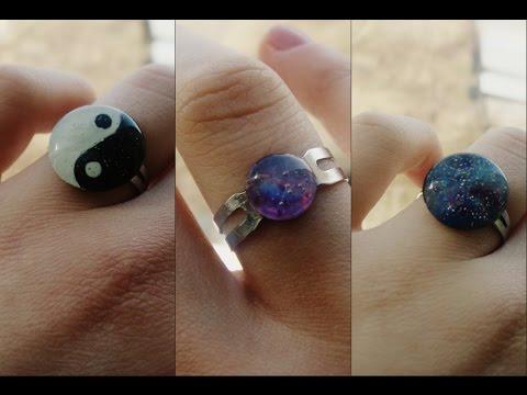 How to make glue rings: Yin Yang
