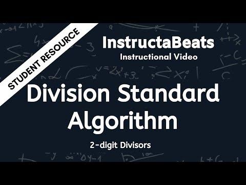 Division Standard Algorithm (Division With 2-digit Divisors) - Instructional Video For Kids