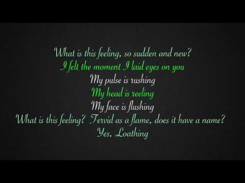 What Is This Feeling?  Lyrics -WIcked