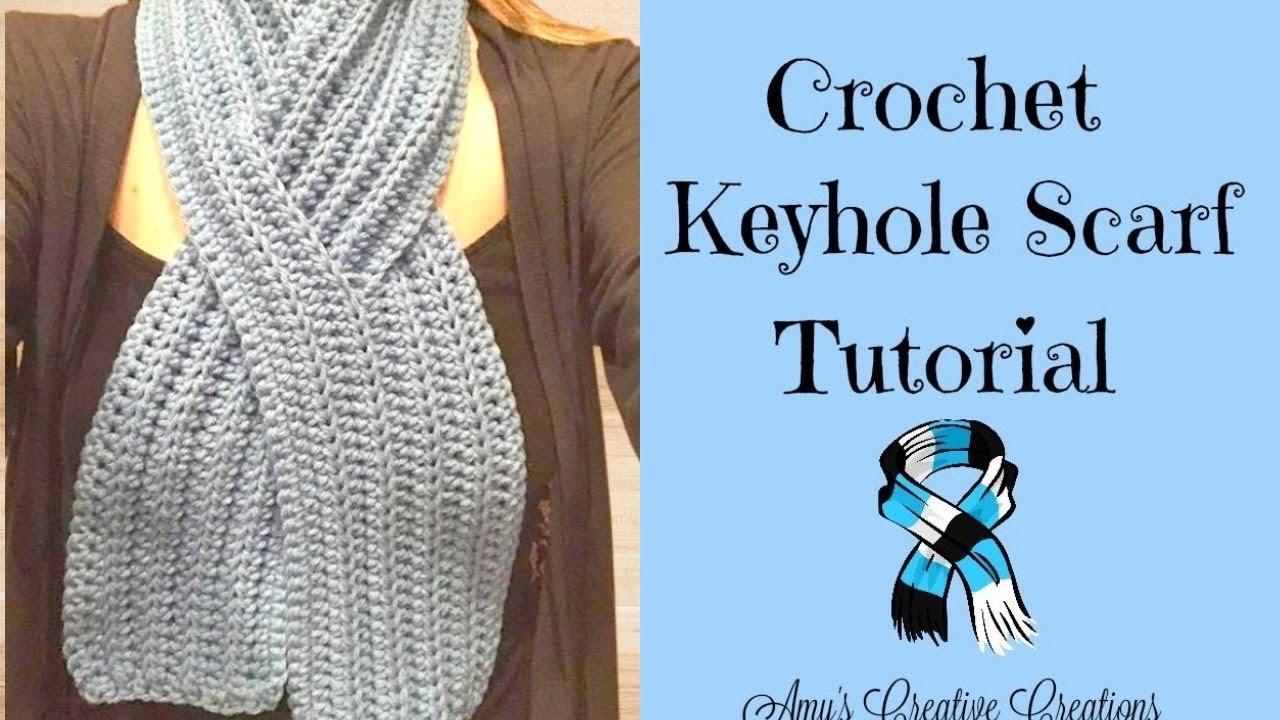 Crochet Keyhole Scarf Tutorial - Crochet Jewel - YouTube