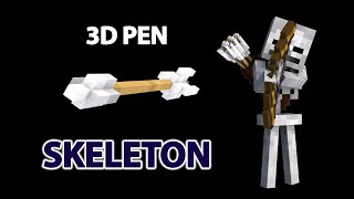 Creating a Skeleton 💀with 3d pen  from Minecraft | Рисуем Скелет Манйкрафт 3д ручкой | 3dpen art