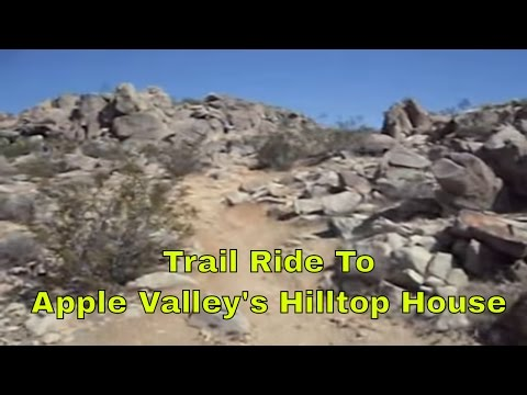 trail ride to hilltop house in apple valley  california