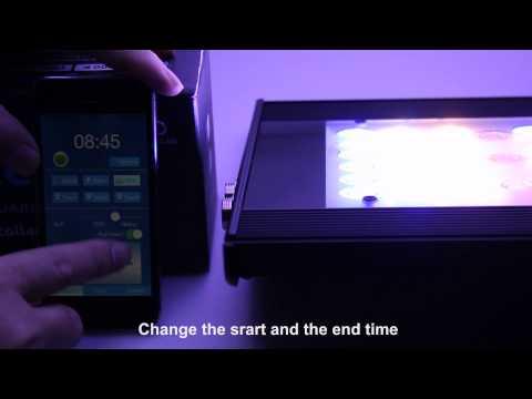 Sanrise Wifi 6 channels control marine led aquarium lighting