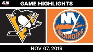 NHL Highlights   Penguins vs. Islanders – Nov. 07, 2019