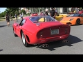 Ferrari 250 GTO Replica - Ferrari F12 - Lamborghini Aventador - F430 - Sounds and Arrivals!