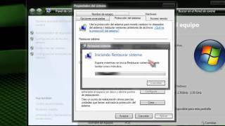 Restaurar Windows 7 a un punto anterior