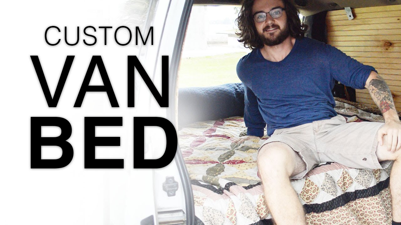 Van Dwelling Simple Bed With Pop Up Bench Seat In Astro