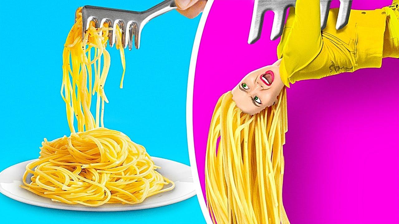 食べ物が人間だったら 123 GO! GOLDの、食べるのが大好きな人のためのクレイジーなDIYライフハックと裏技