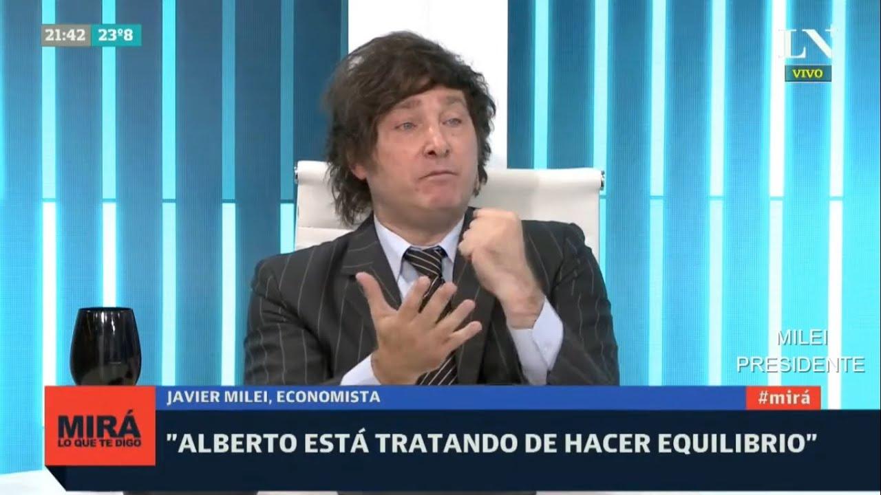 """""""Alberto Fernández cada día se parece más a Maduro"""" Javier Milei en LN+- 10/02/21"""