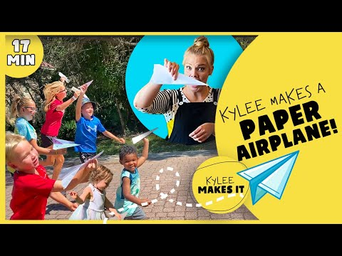 Kylee Makes a Paper Airplane   EASY ACTIVITY FOR KIDS   Learn Aerodynamics   Play Based Learning