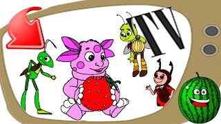Раскраска пазл,  Лунтик и его друзья, Учим цвета