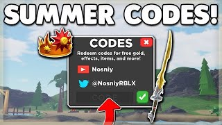 Summer Codes for Treasure Quest Roblox