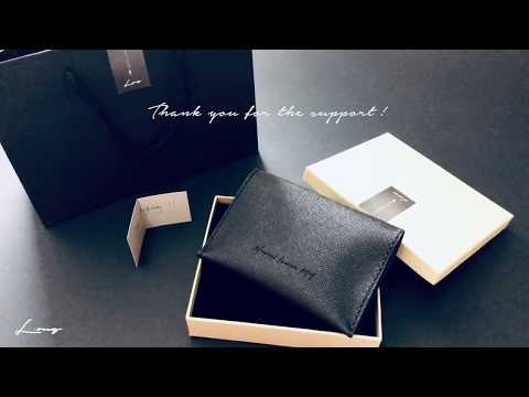 Sharing a gift with love (Personalised Leathercraft Passport Holder by L.ong)