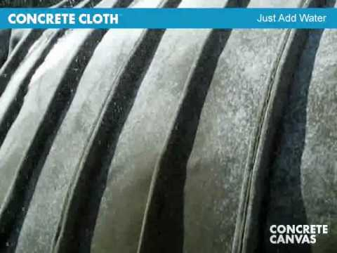 Concrete Cloth Fabric - quick build of trenches, drainage channels, erosion control etc