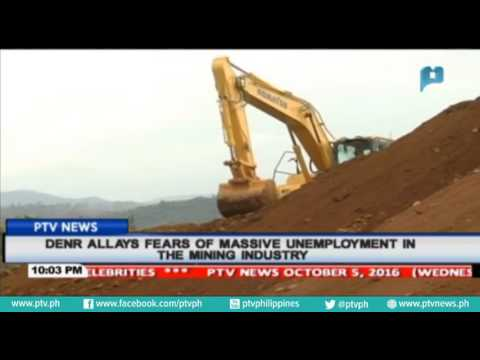 DENR allays fears of massive unemployment in the mining industry