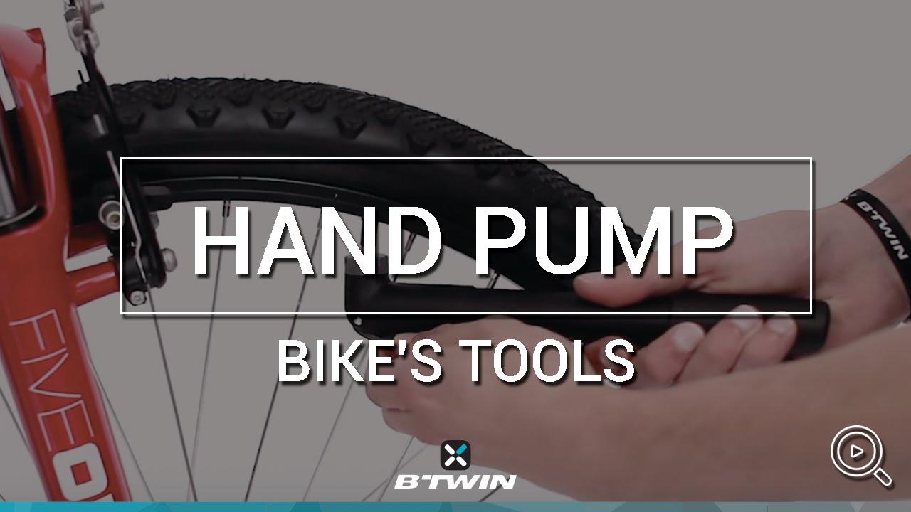 Pompe main v lo hand pump b 39 twin youtube for Prix chambre a air velo