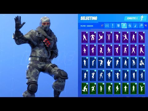 HAVOC SKIN SHOWCASE WITH ALL FORTNITE DANCES & EMOTES
